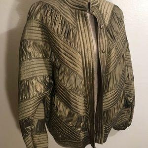 Vintage Jackets & Coats - Vintage Gold Silk Bomber